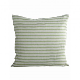 Pillowcase, Stripe, black/grey, 50x50