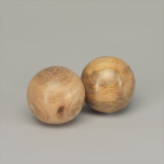 BOULE DECO BOIS DE MANGUIER NATUREL - D7.5