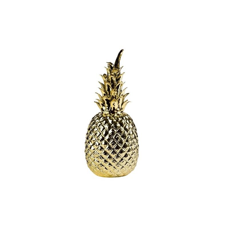 Ananas or e shop d co par ambiances et mati res for Objet deco ananas
