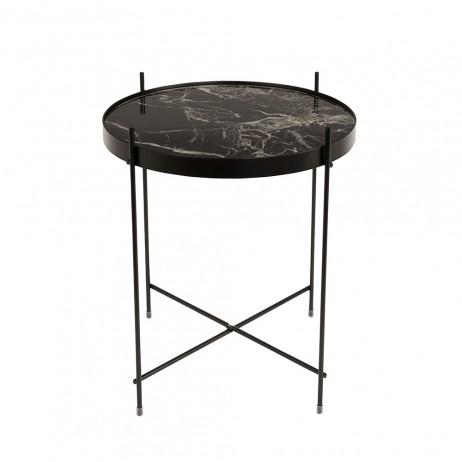 TABLE CUPID MARBRE NOIR DIAM.43 H.45 CM - Zuiver