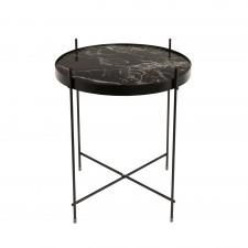 TABLE CUPID MARBRE NOIR DIAM.43 H.45 CM