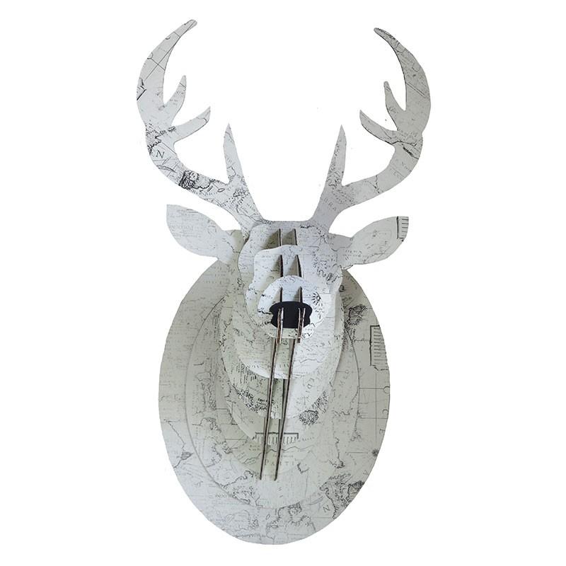 mini trophee cerf carton uni metallise e shop d co par ambiances et mati res. Black Bedroom Furniture Sets. Home Design Ideas