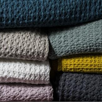 Plaid - Couvre lit coton TEMPO II 240X260 Harmony Textile