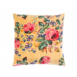 COUSSIN FLOWER ARGENT 45X45