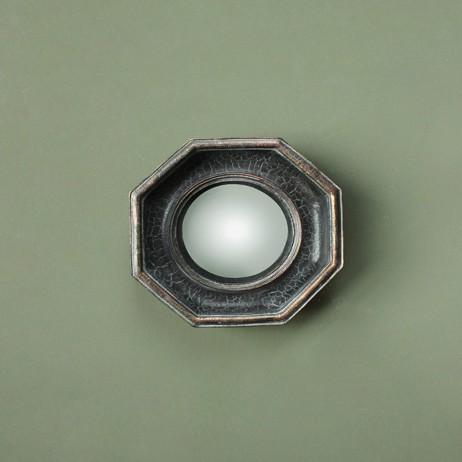 Miroir sorciere octogonal patine noire pm e shop d co for Miroir octogonal