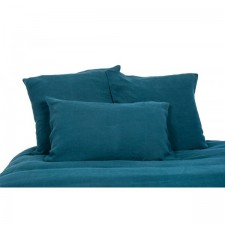 DRAP 100% LIN VITI 270X290 BLEU DE PRUSSE - Harmony Textile