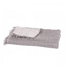 Plaid lin BAYA GRANIT/SOURIS 135X200