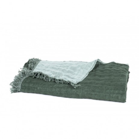 PLAID BAYA MELEZE CELADON 135X200 - Harmony Textile