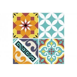 STICKER T E10 TRANSPARENT 10X10 (set de 8 stickers) Beija Flor