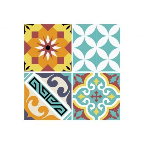 STICKER T E10 TRANSPARENT 10X10 (set de 8 stickers) - Beija Flor