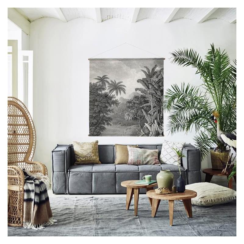 decoration murale xxl jungle 154x154x2cm e shop d co par ambiances et mati res. Black Bedroom Furniture Sets. Home Design Ideas