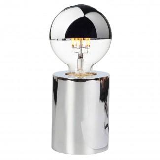 Lampe tactile en métal chrome (D.7,5xH.9,5cm)