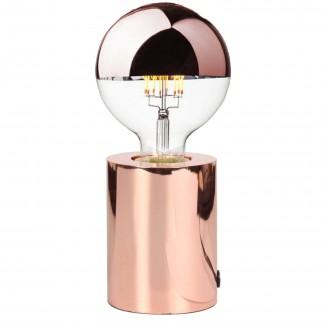 Lampe tactile en métal cuivré (D.7,5xH.9,5cm)