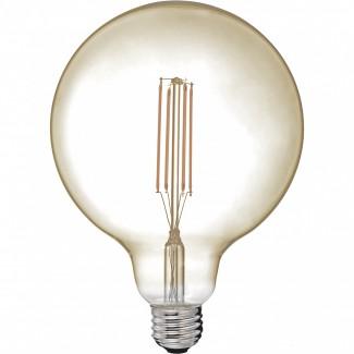AMPOULE LED GLOBE PM 6.5W E27 AMBRE D9.5 H13.2CM