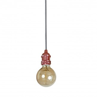 SUSPENSION DOUILLE VINTAGE CUIVRE SATINE 6X6CM