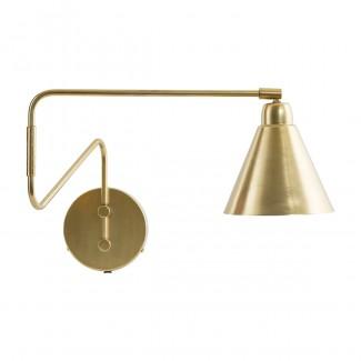 LAMPE MURALE GAME LAITON/BLANC E14 DIA:15 CM, H:13 CM, L:70 CM