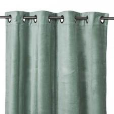 RIDEAUX VELOURS DELHI 135X300 CELADON - Harmony Textile