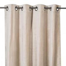RIDEAUX VELOURS DELHI 135X300 CRAIE - Harmony Textile