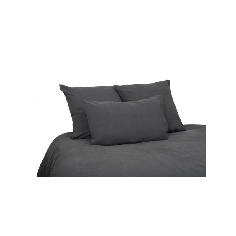 drap housse granit 160x200 e shop d co par ambiances et mati res. Black Bedroom Furniture Sets. Home Design Ideas