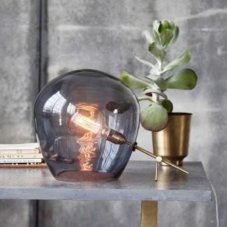LAMPE GLOBE GREY DIA30CM H35
