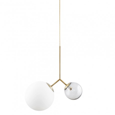 SUSPENSION LAMPE TWICE GREY H70 - HOUSE DOCTOR