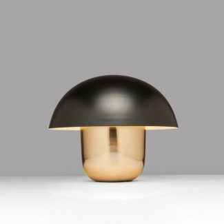 LAMPE DE TABLE MUSHROOM CUIVRE/NOIR Kare