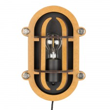 APPLIQUE WALL LAMP NAVIGATOR BLACK
