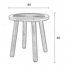 TABLE BASSE DENDRON TAILLE S 43x45 CM - Zuiver
