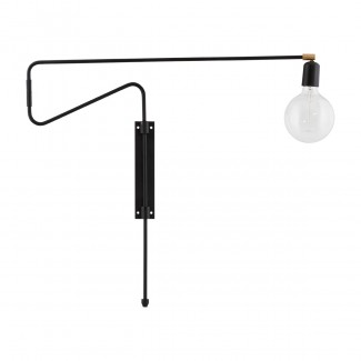 Wall lamp, Swing, black, l.: 35 cm,