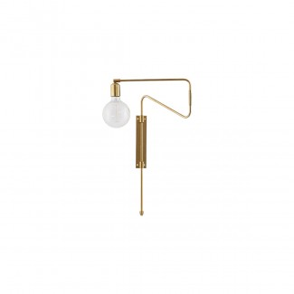 Wall lamp, Swing, brass, l.: 35 cm,