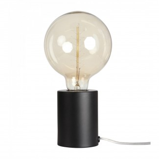 LAMPE TACTILE NOIRE MATE D.7.5 H.9.5