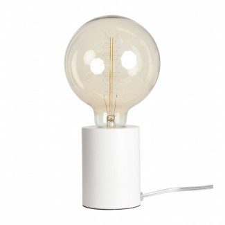 LAMPE TACTILE BLANCHE MATE D:7.5 H.9.5