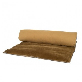 Edredon velours DELHI BRONZE 85X200 Harmony Textile