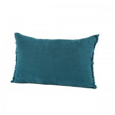 COUSSIN 100% LIN VITI 40X60 BLEU DE PRUSSE - Harmony Textile