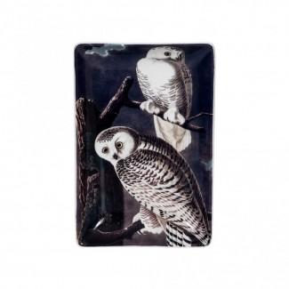 PLATEAU BIRDS TRINKET TRAY CHOUETTES 15X10CM