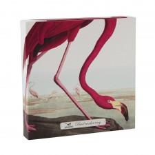 VIDE POCHE BIRDS LARGE TRINKET FLAMINGO 20x20CM - CUBIC