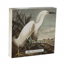 VIDE POCHE BIRDS LARGE TRINKET HERON BLANC 20x20CM - CUBIC