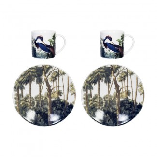 SET DE 2 TASSES EXPRESSO BIRDS HERON