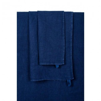 SERVIETTE DE TOILETTE JAVA INDIGO 50X100 Harmony Textile