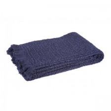 COUVRE LIT TEMPO II 180X240 INDIGO - Harmony Textile