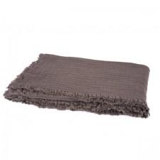 PLAID VANLY 130x190 CHARBON - Harmony Textile