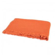 PLAID VANLY 130x190 PAPRIKA - Harmony Textile