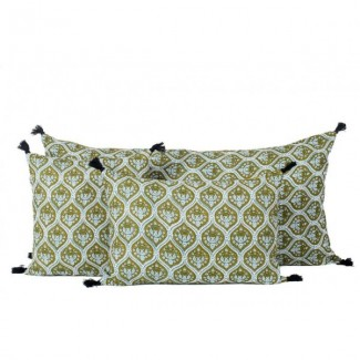 Coussin lin PATNA BRONZE 45X45 Harmony Textile