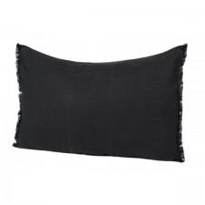 COUSSIN EN LIN 40X60 VITI CHARBON - Harmony Textile