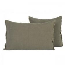 COUSSIN EN LIN 40X60 VITI KAKI - Harmony Textile