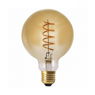 AMPOULE GLOBE LED GM TWIST 4W E27 AMBRE D.12.5X17.5