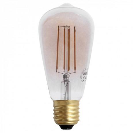 AMPOULE LED VINTAGE 4W E27 AMBRE D.6.4 H.14.3 - Opjet