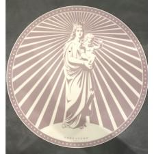 Set de table vinyle ROND TAUPE CELADON PODEVACHE XS - PDV 00213 - Pôdevache