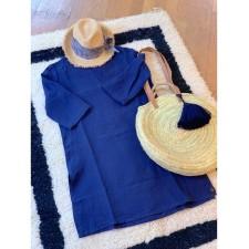TUNIK NAIS TAILLE S/M INDIGO - Harmony Textile