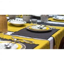 SET DE TABLE LINO 35X45 RAYE ACIER